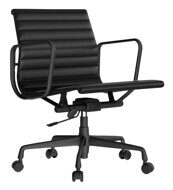Кресло Eames Style Ribbed Office Chair EA 117 Total Black